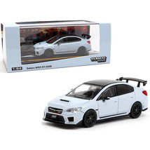 Subaru WRX STi S208 Cool Gray Khaki with Carbon Top 1/64 Diecast Model C... - $31.10
