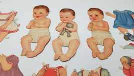 Queen Holden Paper Doll Babies 1945 Set no.969 Dolls with Outfits - $24.70
