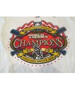 Chicago White Sox White T-Shirt 2XL 2005 World Series Champ Majestic 100... - $12.99