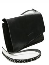 ZARA RARE LEATHER CROSSBODY BAG WITH CHAIN BLACK BNWT - $48.98
