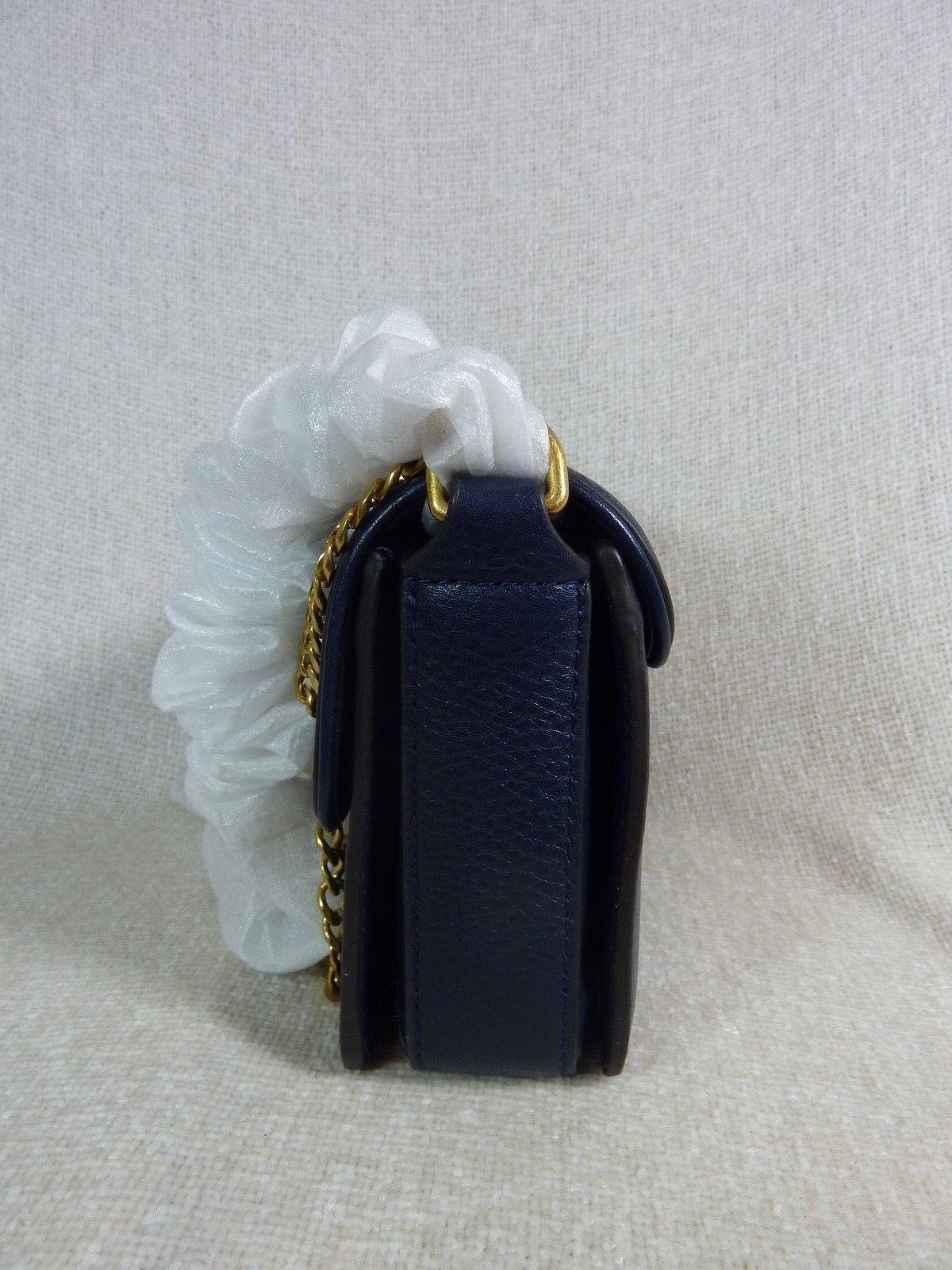 Neuf avec Étiquettes Tory Burch Marine Royale Chelsea Mini Sac Bandoulière image 3