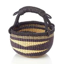 Fair Trade Bolga African Fair Trade Ghana Navy Blue Bolga Baskets (Mini:... - $19.80