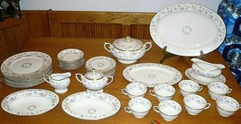 Lamberton Ivory China Made In America Reverie Pattern Floral W Gold Trim... - $409.85