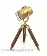 Vintage Brass Antique Table Floor Lamp With Tripod Nautical Collectible ... - $65.16