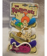 Flintstones 1994 Art Craft Hair Ties w/Plastic Pebbles, Bamm-Bamm & Dino... - $7.95