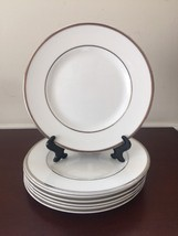"Wedgwood Sterling Bread Plate 1999 Platinum Trim Bone China 2 Pcs Set   7"" - $27.70"