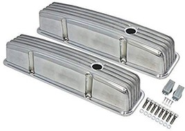 A-Team Performance Tall Finned Polished Aluminum Valve Covers Compatible with 58