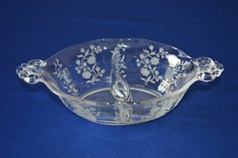 Fostoria Rambler #2440 divided 2 Part Relish Dish Etched - $11.88