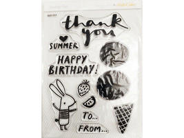 Studio Calico Thank You, Happy Birthday, Summer Clear Stamp Set