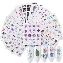 24pcs Watercolor Floral Flower Sticker Nail Decal  - $4.99