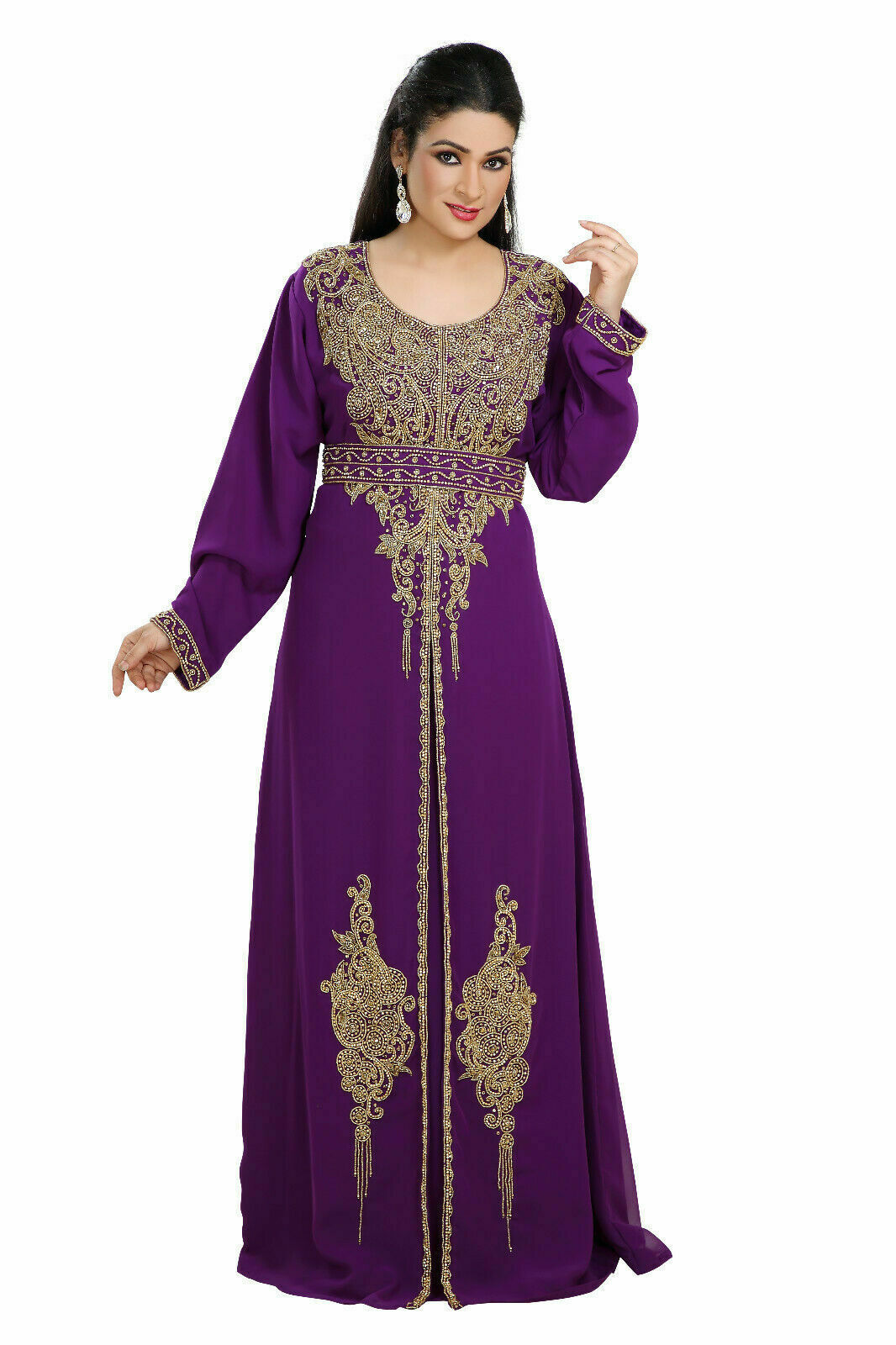Primary image for New Evening Long Maxi Gown Dubai Plus Size Beaded Kaftan African Abaya for Women