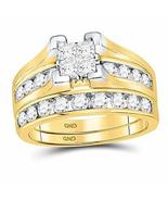 14kt Yellow Gold Womens Princess Diamond Bridal Wedding Engagement Ring ... - $1,920.59
