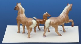 Hagen Renaker Miniature Horse Tiny Chestnut Family Mare Stallion Colt Set of 3 image 2