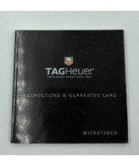 TAG Heuer Chronotimer Instructions and Guarantee Card - $10.99