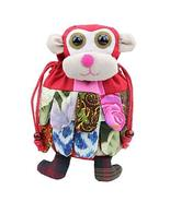 Folk-custom Handmade Monkey Style Shoulder Bag, School Bag for Kids,Red - $17.71