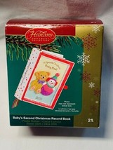 Carlton Heirloom Ornament Collection 2005 Baby 2nd Christmas Record Book... - $9.44