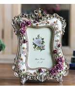 6 Inch Rose Resin Photo Frame Desktop Crafts Picture Frame Creative Wedd... - $21.50