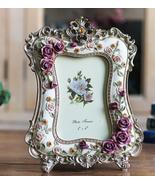 6 Inch Rose Resin Photo Frame Desktop Crafts Picture Frame Creative Wedd... - £15.19 GBP