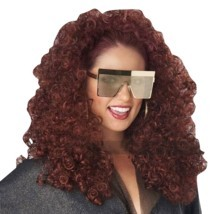 California Costumes Burgundy 3/4 Curly Fall Wig Women's Halloween Costum... - $22.37 CAD