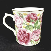 Lenox Rose Porcelain Cup Suzanne Clee Flower Blossom Mug Collection 1995 - $12.00