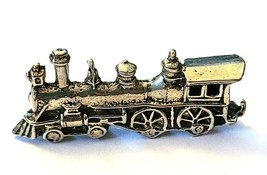 TRAIN ENGINE FIGURINE CAST WITH FINE PEWTER - Approx. 1 1/4 inch Long (T163) image 1