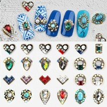 5Pcs 3D DIY Glitter Nail Art Crystal Rhinestone Retro Jewelry Diamond Na... - $11.82
