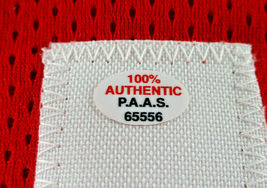 CHRIS PAUL / AUTOGRAPHED HOUSTON ROCKETS RED CUSTOM BASKETBALL JERSEY / COA image 6