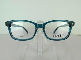 Fossil Fos 6047 (48F) Transparent Petrol 52 X 15 140 Mm Eyeglass Frames Eyewear - $47.96