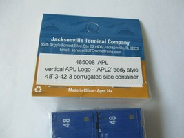 Jacksonville Terminal Company # 485008 APL Vertical Logo 48' 3-42-3 Container (N image 2