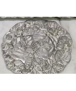 Arthur Court 1990 Aluminum Serving Platter Tray & Trivet Easter Bunny Ra... - $27.72