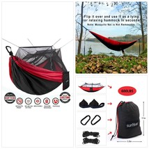 Single Double Camping Hammock With Mosquito/Bug Net, 10ft Hammock Tree S... - $67.36