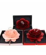 Sweet Rose Flower Box Wedding Engagement Rings Box Surprise Jewelry Stor... - $19.34+