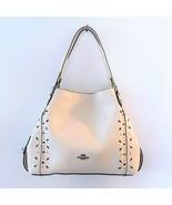 COACH Prairie Rivets Shoulder Bag ~ Chalk Leather Edie 31 NWT 22794 - $198.95