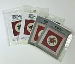 Vintage Lot of 4 Ed Mar Dimensional Embroidery /10b3 - $29.02