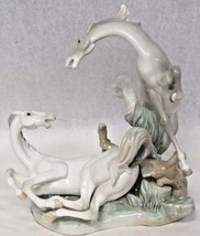 Lladro 1990 Playful Horses #4597 Retired Gloss Finished Porcelain  - $470.25
