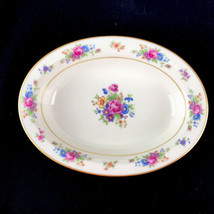 Lenox Rose Fine China Ivory Dresden Floral Oval Serving Bowl USA Retired... - $37.36
