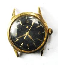 Vintage Baylor 1 Star Automatic Black Dial 1361 33mm 14k Top S/S Back Wr... - $296.99