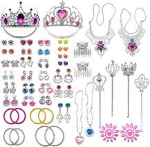 PiPiHa 72Pcs Princess Jewelry Dress-Up Accessories Toy Set. - $14.99
