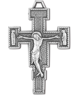 2 PACK RELIGIOUS SILVER TONE CLASSIC RENAISSANCE CRUCIFIX PENDANT - $18.80