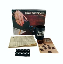Bowl and Score Dice Game E.S. Lowe Company 1974 #953 Milton Bradley Vintage - $15.85
