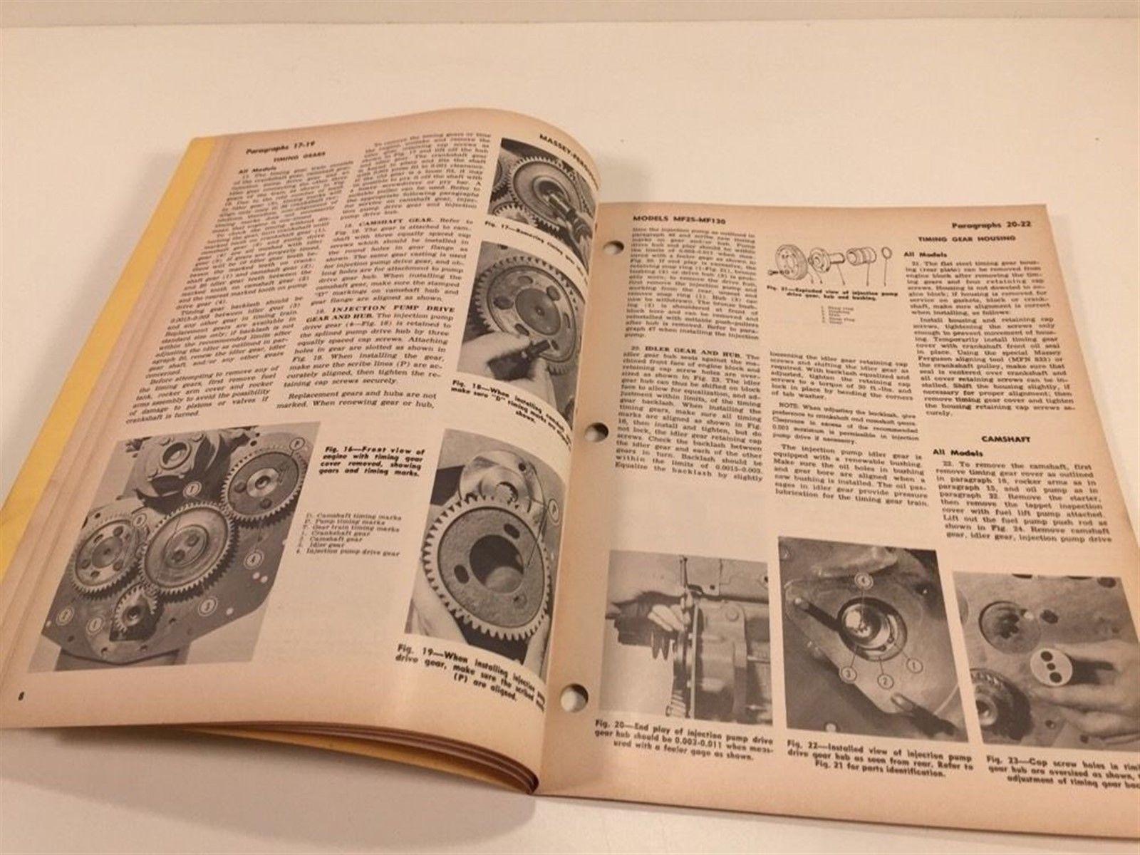 Vintage Implement & Tractor Shop Service Manual - Massey Ferguson MF25 MF130