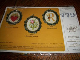 The Creative Circle Kit 779~Initial Brooch Cross Stitch - $8.00