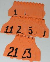 Destron Fearing DuFlex Visual Livestock Id Panel Tags Orange XL 25 Sets 1-25 image 5