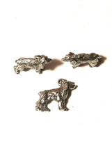 Cocker Spaniel Dog FINE PEWTER PENDANT CHARM - 5x14.5x14mm