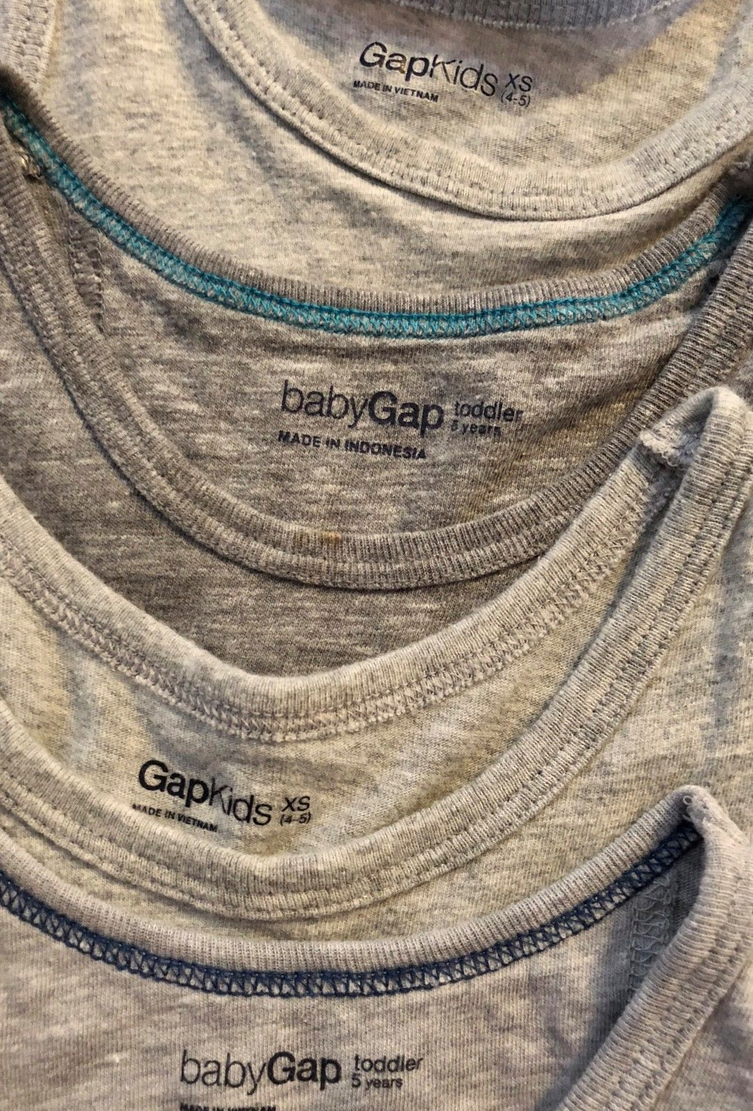 BABY GAP Tank Top + Knit Pull On Shorts Lot of 7 - Summer Outfits Blue Gray Red image 7