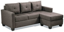 "Homelegance Phelps 78"" X 58"" Fabric Reversible Chaise Sofa, Grayish Brown - $1,331.19"