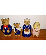 WADE Goldilocks and the Three Bears Porcelain Figurines VTG 1996 Collect... - $69.29