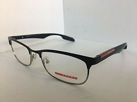 New PRADA VPS 54D GAQ-1O1 Clubmaster 53mm Black Men's Eyeglasses Frame #3 - $149.99