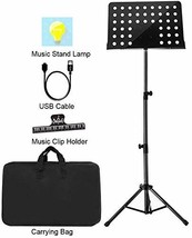 "Sheet Music Stand Lunies Highest 63"" Portable Violin Guitar Music Book H... - $42.39"