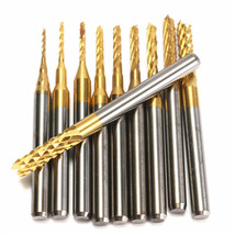 10pcs 0.8-3mm PCB Drill Bits Carbide Engraving Milling Cutter for CNC Ro... - $6.97
